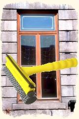 Verschmutzungen von Fenster und Fensterrahmen entfernen